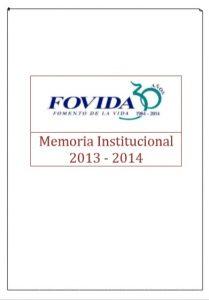 Memoria institucional 2013 – 2014