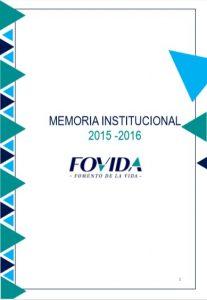 Memoria institucional 2015 – 2016