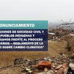 INFOVIDA | Pronunciamiento: Organizaciones de sociedad civil y los pueblos indígenas y afroperuanos frente al proceso