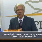 INFOVIDA | Organizaciones y redes de sociedad civil del Perú se pronuncian sobre negativa de Uruguay a la solicitud de asilo del expresidente Alan García