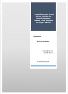 Evaluación de medio término del Plan 2012-2016