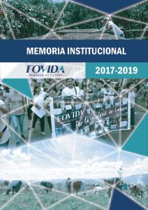 Memoria institucional 2017-2019