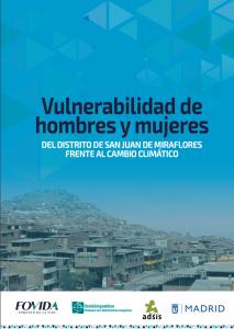 Estudio Vulnerabilidad de hombres y mujeres del distrito de San Juan de Miraflores frente al cambio climático