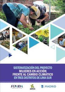 Sistematización del proyecto Mujeres en acción frente al cambio climático