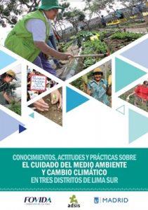 CAP sobre el cuidado del medio ambiente y el cambio climático en tres distritos de Lima Sur