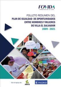 Folleto resumen del Plan de igualdad de oportunidades entre hombre y mujeres de Villa El Salvador 2009-2021