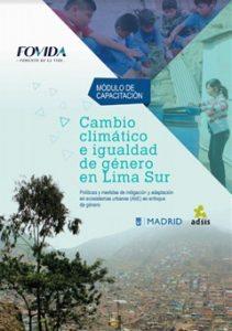 Módulo de capacitación: Cambio climático e igualdad de género en Lima Sur
