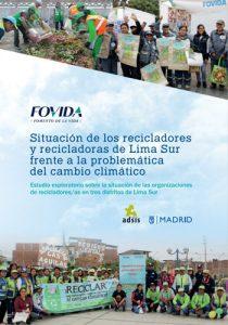 Situación de los recicladores y recicladoras de Lima Sur frente a la problemática del cambio climático