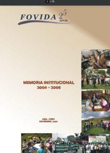 Memoria institucional 2006 – 2008