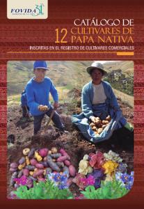 Catálogo de 12 cultivares de papas nativas