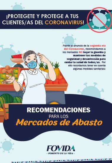 Recomendaciones para los mercados de abasto: ¡Protégete y protege a tus clientes/as del coronavirus!