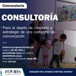 CONSULTORÍA| Para el diseño de concepto y estrategia de una campaña de comunicación