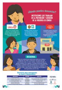 Instituciones que trabajan la prevención y atención de la violencia de género